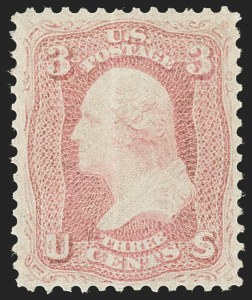 Sale Number 1227, Lot Number 2311, 1861-66 Issue (Scott 56-78)3c Pink (64), 3c Pink (64)