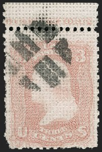 Sale Number 1227, Lot Number 2342, 1867-68 Grilled Issue, A, C, D, Z Grills (Scott 79-85E)3c Rose, A. Grill (79), 3c Rose, A. Grill (79)