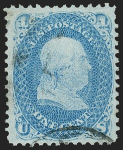 Sale Number 1227, Lot Number 2380, 1867-68 Grilled Issue, E, F Grills (Scott 86-101)1c Blue, F. Grill (92), 1c Blue, F. Grill (92)