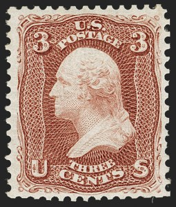 Sale Number 1227, Lot Number 2401, 1875 Re-Issue of 1861-66 Issue (Scott 102-111)3c Brown Red, Re-Issue (104), 3c Brown Red, Re-Issue (104)