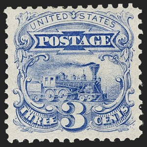 Sale Number 1227, Lot Number 2671, 1875 Re-Issue of 1869 Pictorial Issue (Scott 123-133a)3c Blue, Re-Issue (125), 3c Blue, Re-Issue (125)