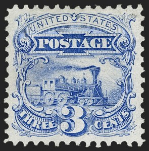 Sale Number 1227, Lot Number 2672, 1875 Re-Issue of 1869 Pictorial Issue (Scott 123-133a)3c Blue, Re-Issue (125), 3c Blue, Re-Issue (125)