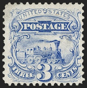 Sale Number 1227, Lot Number 2673, 1875 Re-Issue of 1869 Pictorial Issue (Scott 123-133a)3c Blue, Re-Issue (125), 3c Blue, Re-Issue (125)
