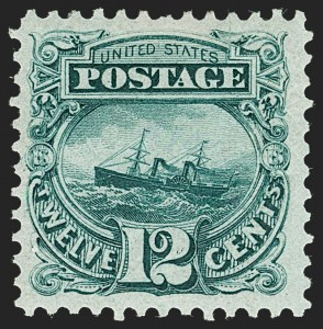 Sale Number 1227, Lot Number 2680, 1875 Re-Issue of 1869 Pictorial Issue (Scott 123-133a)12c Green, Re-Issue (128), 12c Green, Re-Issue (128)