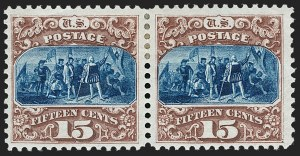 Sale Number 1227, Lot Number 2683, 1875 Re-Issue of 1869 Pictorial Issue (Scott 123-133a)15c Brown & Blue, Re-Issue (129), 15c Brown & Blue, Re-Issue (129)