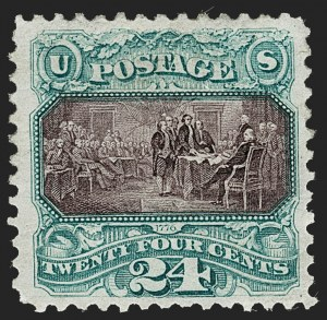 Sale Number 1227, Lot Number 2685, 1875 Re-Issue of 1869 Pictorial Issue (Scott 123-133a)24c Green & Violet, Re-Issue (130), 24c Green & Violet, Re-Issue (130)