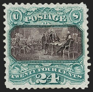 Sale Number 1227, Lot Number 2686, 1875 Re-Issue of 1869 Pictorial Issue (Scott 123-133a)24c Green & Violet, Re-Issue (130), 24c Green & Violet, Re-Issue (130)