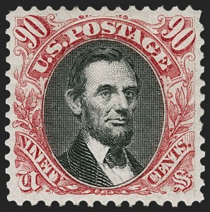 Sale Number 1227, Lot Number 2695, 1875 Re-Issue of 1869 Pictorial Issue (Scott 123-133a)90c Carmine & Black, Re-Issue (132), 90c Carmine & Black, Re-Issue (132)