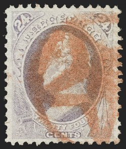 Sale Number 1227, Lot Number 2723, Fancy Cancels on the 1869 Pictorial Issue and 1870-88 Bank Notes Issues24c Purple (153), 24c Purple (153)