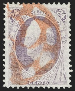Sale Number 1227, Lot Number 2724, Fancy Cancels on the 1869 Pictorial Issue and 1870-88 Bank Notes Issues24c Purple (153), 24c Purple (153)