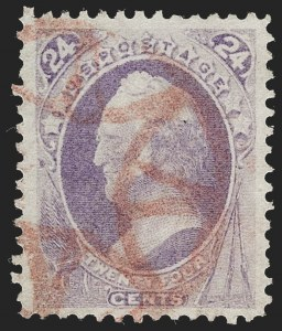 Sale Number 1227, Lot Number 2726, Fancy Cancels on the 1869 Pictorial Issue and 1870-88 Bank Notes Issues24c Purple (153), 24c Purple (153)