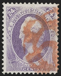 Sale Number 1227, Lot Number 2727, Fancy Cancels on the 1869 Pictorial Issue and 1870-88 Bank Notes Issues24c Purple (153), 24c Purple (153)