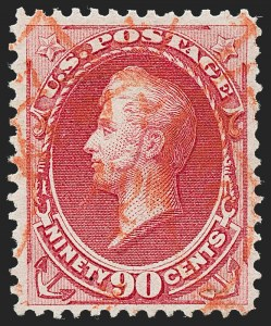 Sale Number 1227, Lot Number 2772, 1870-71 National Bank Note Co. Ungrilled Issue (Scott 145-155)90c Carmine (155), 90c Carmine (155)