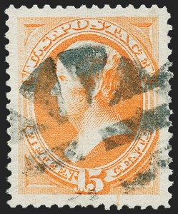 Sale Number 1227, Lot Number 2824, 1875 Continental thru 1879 American Bank Note Co. Issue (Scott 178-191)15c Red Orange (189), 15c Red Orange (189)