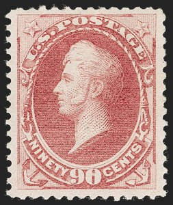 Sale Number 1227, Lot Number 2830, 1875 Continental thru 1879 American Bank Note Co. Issue (Scott 178-191)90c Carmine (191), 90c Carmine (191)