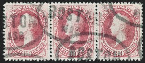 Sale Number 1227, Lot Number 2833, 1875 Continental thru 1879 American Bank Note Co. Issue (Scott 178-191)90c Carmine (191), 90c Carmine (191)