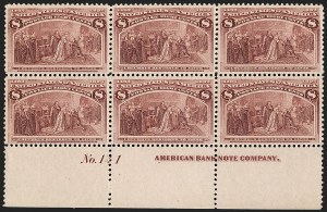 Sale Number 1227, Lot Number 2903, 1c- 50c 1893 Columbian Issue (Scott 230-240)8c Columbian (236), 8c Columbian (236)