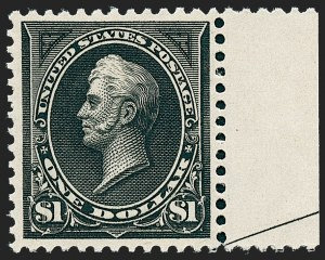 Sale Number 1227, Lot Number 2958, 1894 Unwatermarked Bureau Issue (Scott 246-263)$1.00 Black, Ty. II (261A), $1.00 Black, Ty. II (261A)