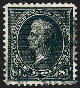 Sale Number 1227, Lot Number 2980, 1895 Watermarked and 1897-1903 Change of Colors Bureau Issues (Scott 264-284)$1.00 Black, Ty. I-II (276-276A), $1.00 Black, Ty. I-II (276-276A)