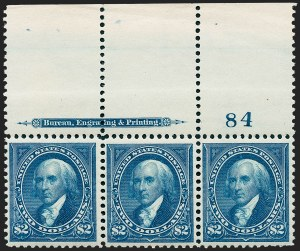 Sale Number 1227, Lot Number 2990, 1895 Watermarked and 1897-1903 Change of Colors Bureau Issues (Scott 264-284)$2.00 Bright Blue (277), $2.00 Bright Blue (277)