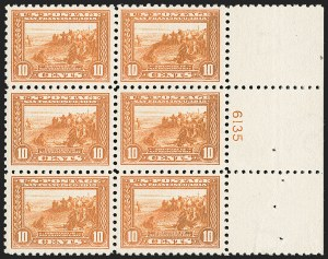 Sale Number 1227, Lot Number 3106, The Dr. Bernard S. Yudowitz Collection of Plate Blocks (Scott 300-423)10c Panama-Pacific, Perf 10 (404), 10c Panama-Pacific, Perf 10 (404)