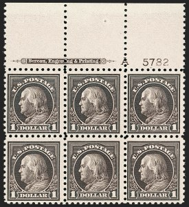 Sale Number 1227, Lot Number 3130, The Dr. Bernard S. Yudowitz Collection of Plate Blocks (Scott 432-834)$1.00 Violet Black (478), $1.00 Violet Black (478)
