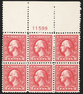 Sale Number 1227, Lot Number 3139, The Dr. Bernard S. Yudowitz Collection of Plate Blocks (Scott 432-834)2c Carmine, Ty. VI (528A), 2c Carmine, Ty. VI (528A)