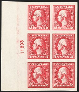 Sale Number 1227, Lot Number 3140, The Dr. Bernard S. Yudowitz Collection of Plate Blocks (Scott 432-834)2c Carmine, Ty. V, Imperforate (533), 2c Carmine, Ty. V, Imperforate (533)