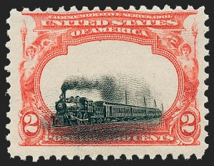 "Sale Number 1227, Lot Number 3199, 1901 Pan-American Issue Including Inverts (Scott 294-299)2c Pan-American, ""Low Train"" (295), 2c Pan-American, ""Low Train"" (295)"