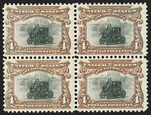 Sale Number 1227, Lot Number 3202, 1901 Pan-American Issue Including Inverts (Scott 294-299)4c Pan-American (296), 4c Pan-American (296)