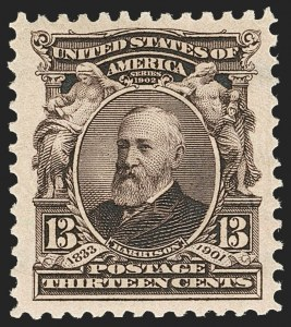Sale Number 1227, Lot Number 3220, 1902-08 Issues (Scott 300-313)13c Purple Black (308), 13c Purple Black (308)