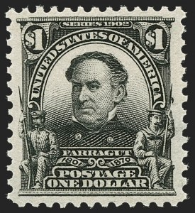 Sale Number 1227, Lot Number 3223, 1902-08 Issues (Scott 300-313)$1.00 Black (311), $1.00 Black (311)