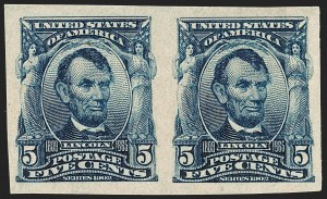 Sale Number 1227, Lot Number 3241, 1902-08 Issues, cont. (Scott 314-322)5c Blue, Imperforate (315), 5c Blue, Imperforate (315)