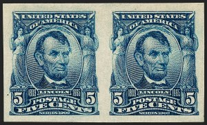 Sale Number 1227, Lot Number 3242, 1902-08 Issues, cont. (Scott 314-322)5c Blue, Imperforate (315), 5c Blue, Imperforate (315)