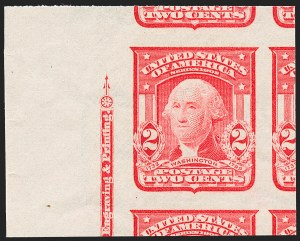 Sale Number 1227, Lot Number 3255, 1902-08 Issues, cont. (Scott 314-322)2c Carmine, Ty. I, Imperforate (320), 2c Carmine, Ty. I, Imperforate (320)