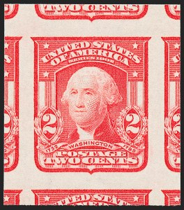Sale Number 1227, Lot Number 3257, 1902-08 Issues, cont. (Scott 314-322)2c Carmine, Ty. I, Imperforate (320), 2c Carmine, Ty. I, Imperforate (320)