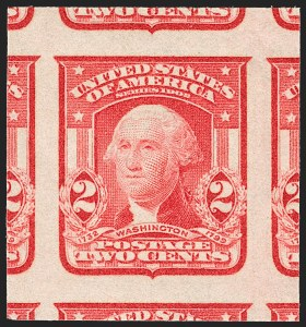 Sale Number 1227, Lot Number 3258, 1902-08 Issues, cont. (Scott 314-322)2c Scarlet, Ty. I, Imperforate (320b), 2c Scarlet, Ty. I, Imperforate (320b)