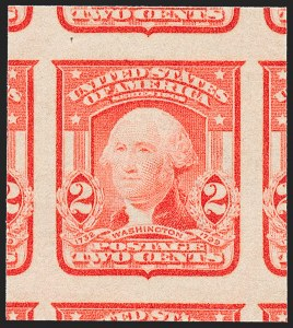 Sale Number 1227, Lot Number 3259, 1902-08 Issues, cont. (Scott 314-322)2c Scarlet, Ty. I, Imperforate (320b), 2c Scarlet, Ty. I, Imperforate (320b)