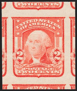 Sale Number 1227, Lot Number 3260, 1902-08 Issues, cont. (Scott 314-322)2c Scarlet, Ty. I, Imperforate (320b), 2c Scarlet, Ty. I, Imperforate (320b)