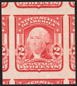 Sale Number 1227, Lot Number 3261, 1902-08 Issues, cont. (Scott 314-322)2c Scarlet, Ty. I, Imperforate (320b), 2c Scarlet, Ty. I, Imperforate (320b)