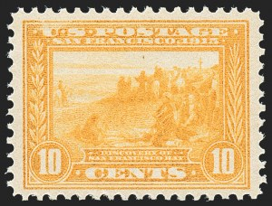 Sale Number 1227, Lot Number 3373, 1913-15 Panama-Pacific Issue (Scott 397-404)10c Orange Yellow, Panama-Pacific (400), 10c Orange Yellow, Panama-Pacific (400)