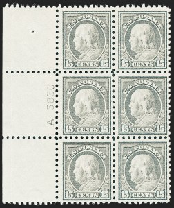 Sale Number 1227, Lot Number 3398, 1913-15 Washington-Franklin Issues (Scott 424-447)15c Gray (437), 15c Gray (437)