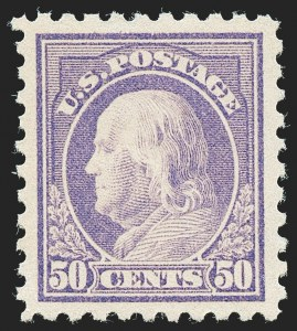 Sale Number 1227, Lot Number 3400, 1913-15 Washington-Franklin Issues (Scott 424-447)50c Violet (440), 50c Violet (440)
