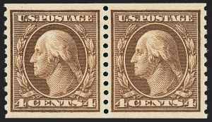 Sale Number 1227, Lot Number 3429, 1913-15 Washington-Franklin Issues (Scott 449-461)4c Brown, Coil (457), 4c Brown, Coil (457)
