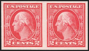 Sale Number 1227, Lot Number 3430, 1913-15 Washington-Franklin Issues (Scott 449-461)2c Carmine, Ty. I, Imperforate Coil (459), 2c Carmine, Ty. I, Imperforate Coil (459)