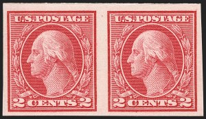 Sale Number 1227, Lot Number 3431, 1913-15 Washington-Franklin Issues (Scott 449-461)2c Carmine, Ty. I, Imperforate Coil (459), 2c Carmine, Ty. I, Imperforate Coil (459)