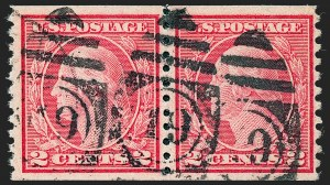 Sale Number 1227, Lot Number 3467, 1917-19 Washington-Franklin Issues (Scott 481-524)2c Carmine, Ty. II, Coil (491), 2c Carmine, Ty. II, Coil (491)