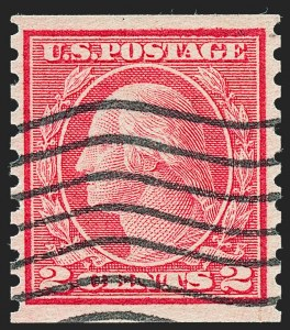 Sale Number 1227, Lot Number 3468, 1917-19 Washington-Franklin Issues (Scott 481-524)2c Carmine, Ty. II, Coil (491), 2c Carmine, Ty. II, Coil (491)