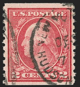 Sale Number 1227, Lot Number 3469, 1917-19 Washington-Franklin Issues (Scott 481-524)2c Carmine, Ty. II, Coil (491), 2c Carmine, Ty. II, Coil (491)