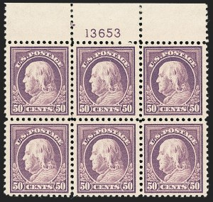 Sale Number 1227, Lot Number 3490, 1917-19 Washington-Franklin Issues (Scott 481-524)50c Red Violet (517), 50c Red Violet (517)